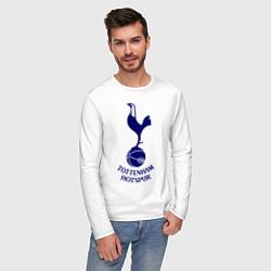 Лонгслив хлопковый мужской Tottenham FC цвета белый — фото 2
