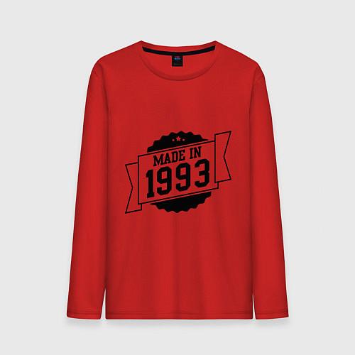 Мужской лонгслив Made in 1993 / Красный – фото 1