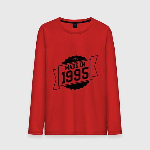 Мужской лонгслив Made in 1995 / Красный – фото 1