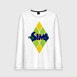 Лонгслив хлопковый мужской The Sims цвета белый — фото 1