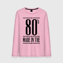 Лонгслив хлопковый мужской Made in the 80s цвета светло-розовый — фото 1