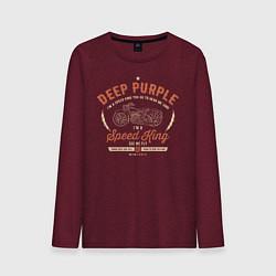 Лонгслив хлопковый мужской Deep Purple: Speed King цвета меланж-бордовый — фото 1