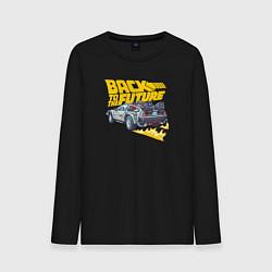 Лонгслив хлопковый мужской Back to the Future цвета черный — фото 1