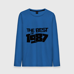Лонгслив хлопковый мужской The best of 1987 цвета синий — фото 1