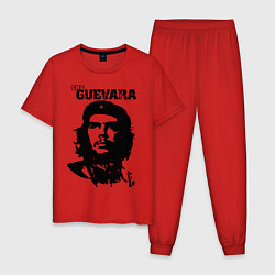 Пижама хлопковая мужская Che Guevara цвета красный — фото 1