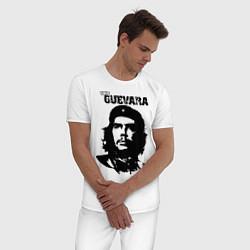 Пижама хлопковая мужская Che Guevara цвета белый — фото 2