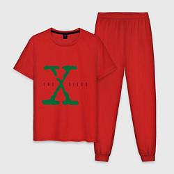 Пижама хлопковая мужская The X-files цвета красный — фото 1
