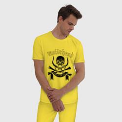 Пижама хлопковая мужская Motorhead цвета желтый — фото 2