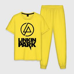 Пижама хлопковая мужская Linkin Park цвета желтый — фото 1