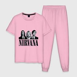 Пижама хлопковая мужская Nirvana Group цвета светло-розовый — фото 1