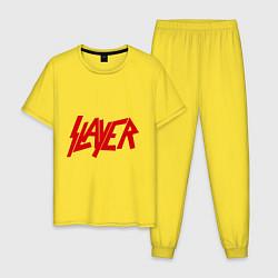 Пижама хлопковая мужская Slayer цвета желтый — фото 1