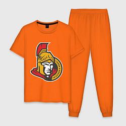Пижама хлопковая мужская Ottawa Senators цвета оранжевый — фото 1