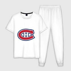 Пижама хлопковая мужская Montreal Canadiens цвета белый — фото 1