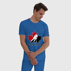 Пижама хлопковая мужская Canada цвета синий — фото 2