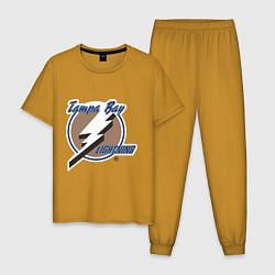 Пижама хлопковая мужская Tampa Bay цвета горчичный — фото 1