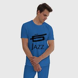 Пижама хлопковая мужская Jazz цвета синий — фото 2