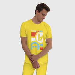 Пижама хлопковая мужская Twenty One Pilots цвета желтый — фото 2