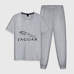 Пижама хлопковая мужская Jaguar цвета меланж — фото 1