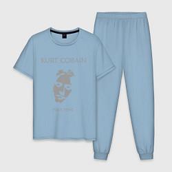 Пижама хлопковая мужская Kurt Cobain: 1967-1994 цвета мягкое небо — фото 1