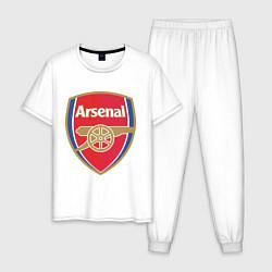 Пижама хлопковая мужская Arsenal FC цвета белый — фото 1