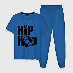 Пижама хлопковая мужская Hip-Hop цвета синий — фото 1