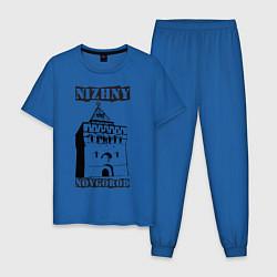 Пижама хлопковая мужская Нижний Новгород цвета синий — фото 1