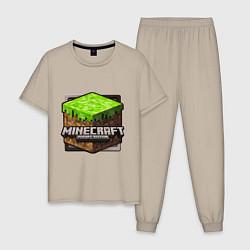 Пижама хлопковая мужская Minecraft: Pocket Edition цвета миндальный — фото 1