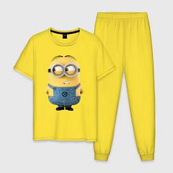 Пижама хлопковая мужская Хитрый Миньон цвета желтый — фото 1