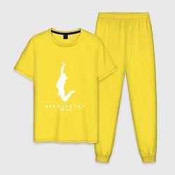 Пижама хлопковая мужская Bennington: 1967-2017 цвета желтый — фото 1