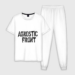 Пижама хлопковая мужская Agnostic front цвета белый — фото 1