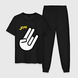 Пижама хлопковая мужская JDM цвета черный — фото 1