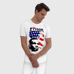 Пижама хлопковая мужская Mike Tyson: USA Boxing цвета белый — фото 2