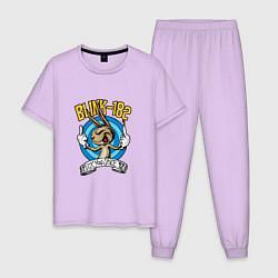 Пижама хлопковая мужская Blink-182: Fuck you цвета лаванда — фото 1