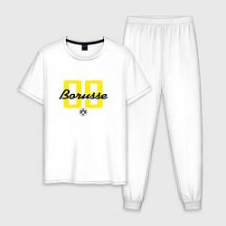 Пижама хлопковая мужская Borusse 09: light цвета белый — фото 1