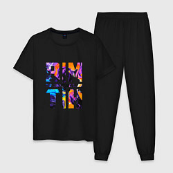 Пижама хлопковая мужская BMTH цвета черный — фото 1
