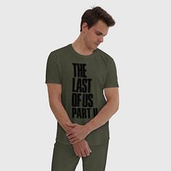 Пижама хлопковая мужская The Last of Us: Part II цвета меланж-хаки — фото 2