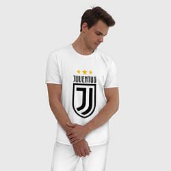 Пижама хлопковая мужская Juventus FC: 3 stars цвета белый — фото 2