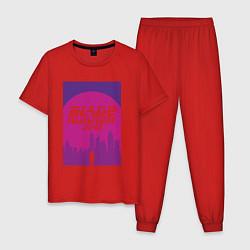 Пижама хлопковая мужская Blade Runner 2049: Purple цвета красный — фото 1