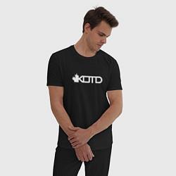 Пижама хлопковая мужская KOTD цвета черный — фото 2