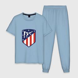 Пижама хлопковая мужская Atletico Madrid цвета мягкое небо — фото 1