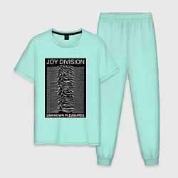 Пижама хлопковая мужская Joy Division: Unknown Pleasures цвета мятный — фото 1