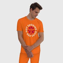 Пижама хлопковая мужская Red Hot цвета оранжевый — фото 2