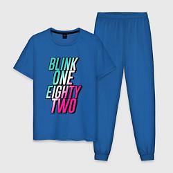 Пижама хлопковая мужская Blink One Eighty Two цвета синий — фото 1