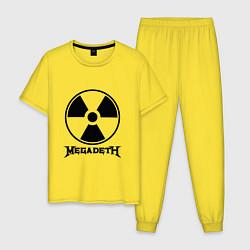 Пижама хлопковая мужская Megadeth: Radioactive цвета желтый — фото 1