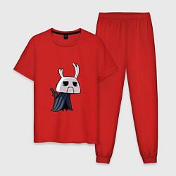 Пижама хлопковая мужская Hollow Knight цвета красный — фото 1