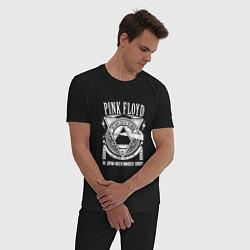 Пижама хлопковая мужская Pink Floyd цвета черный — фото 2