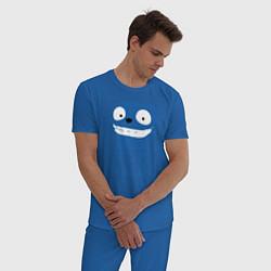 Пижама хлопковая мужская Vote Waldo цвета синий — фото 2