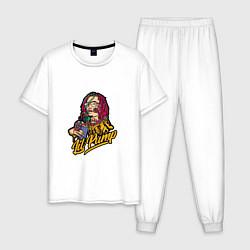 Пижама хлопковая мужская Lil Pump: Street Style цвета белый — фото 1