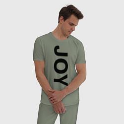 Пижама хлопковая мужская Joy BMW цвета авокадо — фото 2