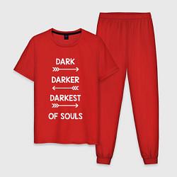 Пижама хлопковая мужская Darkest of Souls цвета красный — фото 1